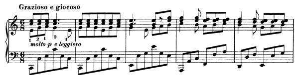 Intermezzo Op. 119 No. 3  in C Major by Brahms piano sheet music