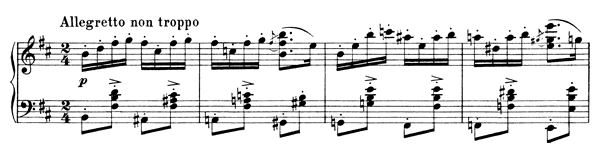 Capriccio Op. 76 No. 2  in B Minor by Brahms piano sheet music