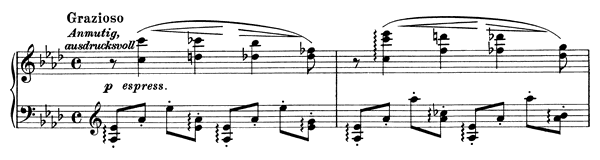 Intermezzo Op. 76 No. 3  in A-flat Major by Brahms piano sheet music