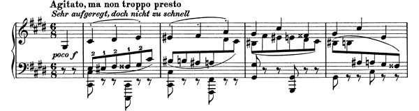 Capriccio Op. 76 No. 5  in C-sharp Minor by Brahms piano sheet music