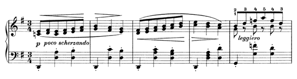 Waltz Op. 39 No. 10  in G Major by Brahms piano sheet music