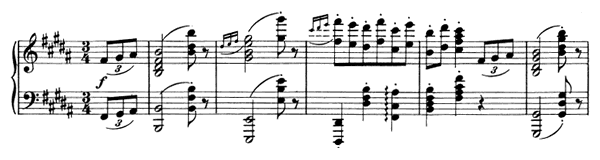 Waltz Op. 39 No. 13  in B Major by Brahms piano sheet music