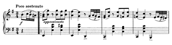 Waltz Op. 39 No. 4  in E Minor by Brahms piano sheet music