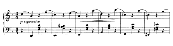Waltz Op. 39 No. 9  in D Minor by Brahms piano sheet music