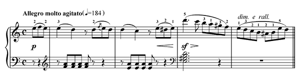 The Farewell Op. 100 No. 12  in A Minor by Burgmüller piano sheet music