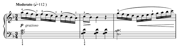 Innocence Op. 100 No. 5  in C Major by Burgmüller piano sheet music