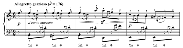 Serenade Op. 109 No. 11  in A Minor by Burgmüller piano sheet music
