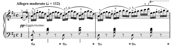 Spinning Song Op. 109 No. 18  in D Major by Burgmüller piano sheet music