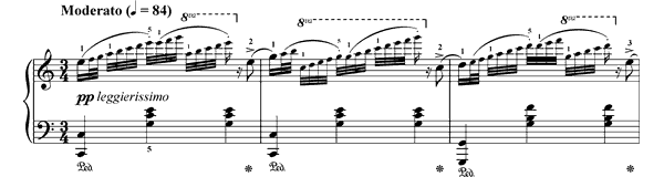The Pearls Op. 109 No. 2  in C Major by Burgmüller piano sheet music
