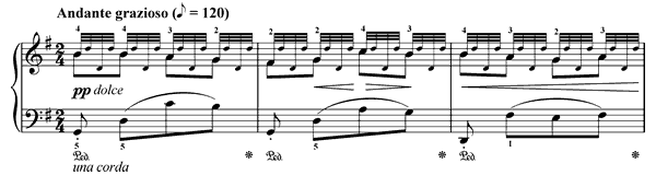 The Spring Op. 109 No. 5  in G Major by Burgmüller piano sheet music