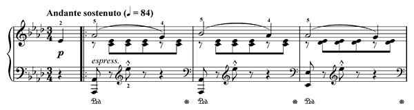 Morning Bell Op. 109 No. 9  in A-flat Major by Burgmüller piano sheet music