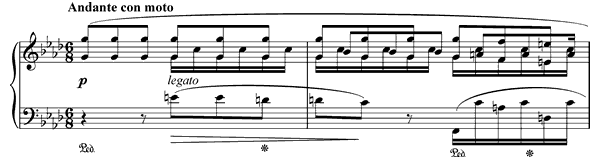 piano sheet music of Ballade 4