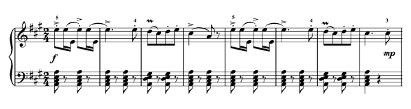 Bourrée No. 2   in A Major by Chopin piano sheet music