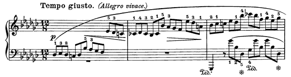 Impromptu Op. 51  in G-flat Major by Chopin piano sheet music