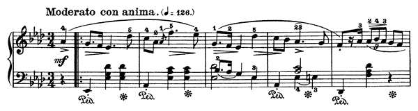 Mazurka Op. 24 No. 3  in A-flat Major by Chopin piano sheet music