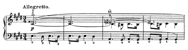 Mazurka Op. 30 No. 4  in C-sharp Minor by Chopin piano sheet music