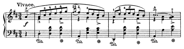 Mazurka Op. 33 No. 2  in D Major by Chopin piano sheet music