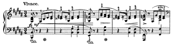 Mazurka Op. 63 No. 1  in B Major by Chopin piano sheet music