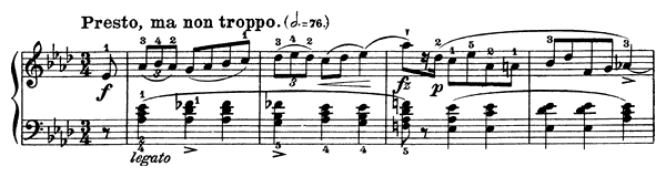 Mazurka Op. 7 No. 4  in A-flat Major by Chopin piano sheet music
