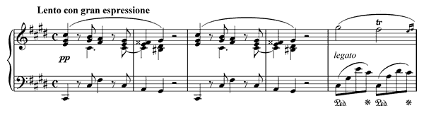 piano sheet music of Nocturne