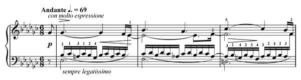 Etude Op. 10 No. 6  in E-flat Minor by Chopin piano sheet music