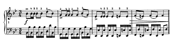 Polonaise Op. posth.  in B-flat Major by Chopin piano sheet music