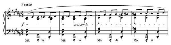 Prelude Op. 28 No. 12  in G-sharp Minor by Chopin piano sheet music