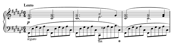 Prelude Op. 28 No. 13  in F-sharp Major by Chopin piano sheet music
