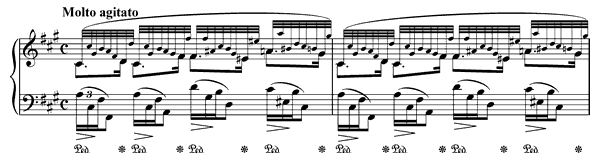 Prelude Op. 28 No. 8  in F-sharp Minor by Chopin piano sheet music