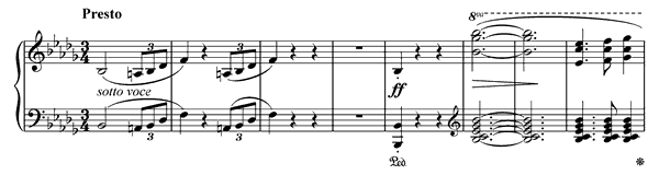 piano sheet music of Scherzo 2
