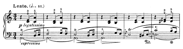 Waltz Op. 34 No. 2  in A Minor by Chopin piano sheet music