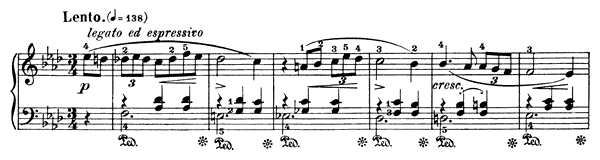 Waltz Op. 69 No. 1  in A-flat Major by Chopin piano sheet music