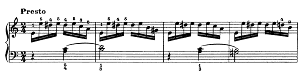 Study  No. 19  in A Minor by Clementi piano sheet music