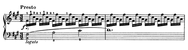 Study  No. 24  in F-sharp Minor by Clementi piano sheet music