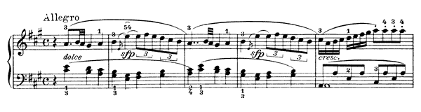Sonata Op. 33 No. 1  in A Major by Clementi piano sheet music