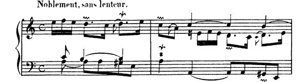 Ordre  No. 15  in A Minor by Couperin piano sheet music