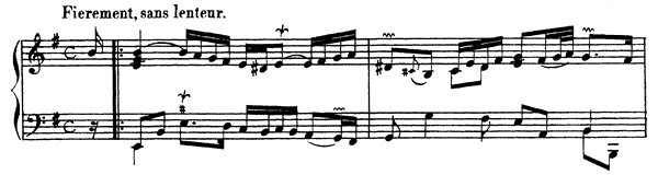 Ordre  No. 17  in E Minor by Couperin piano sheet music