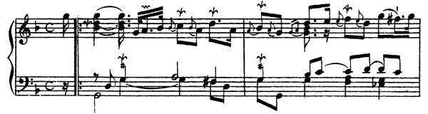 Ordre  No. 1  in G Minor by Couperin piano sheet music