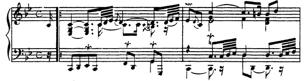 Ordre  No. 3  in C Minor by Couperin piano sheet music