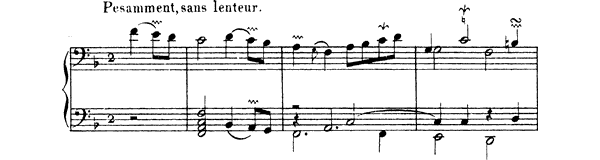 Ordre  No. 4  in F Major by Couperin piano sheet music