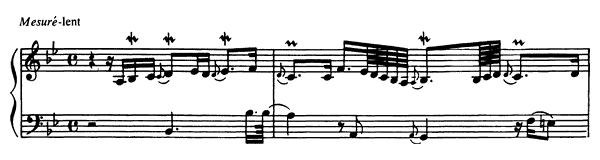 Seventh Prelude  No. 7  in B-flat Major by Couperin piano sheet music