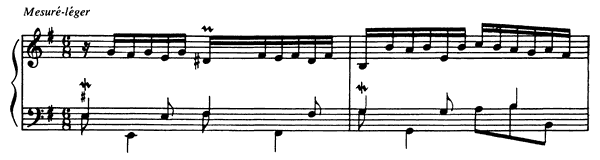 Eighth Prelude  No. 8  in E Minor by Couperin piano sheet music
