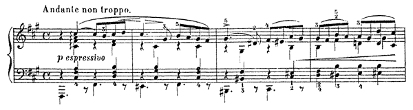 Nocturne Op. 22 No. 3  in F-sharp Minor by Cui piano sheet music
