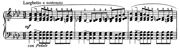 Prelude Op. 64 No. 17  in A-flat Major by Cui piano sheet music