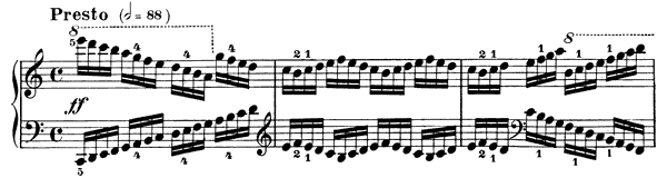 Study Op. 299 No. 36  in C Major by Czerny piano sheet music