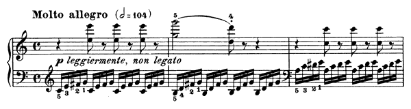 Study Op. 299 No. 7  in C Major by Czerny piano sheet music
