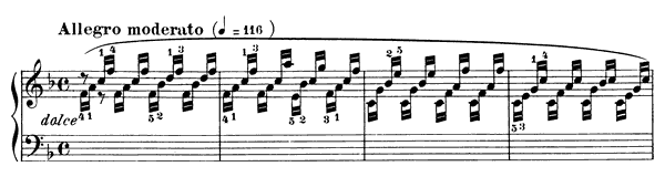 Download piano score: Czerny - Study Op  849 No  10 in F Major