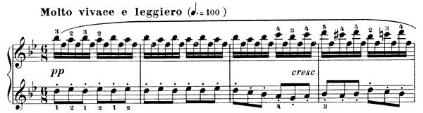 Czerny: Study in B-flat Major, Op  849 No  13 - Sheet Music
