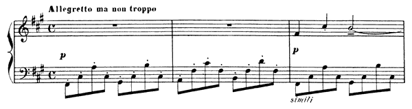 Passepied  No. 4  in F-sharp Minor by Debussy piano sheet music