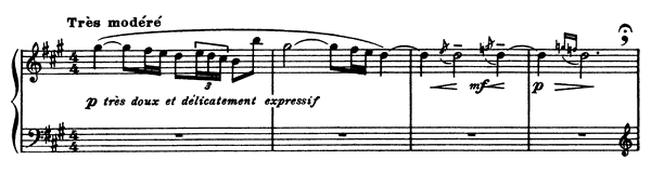 The Little Shepherd  No. 5  in A Major by Debussy piano sheet music